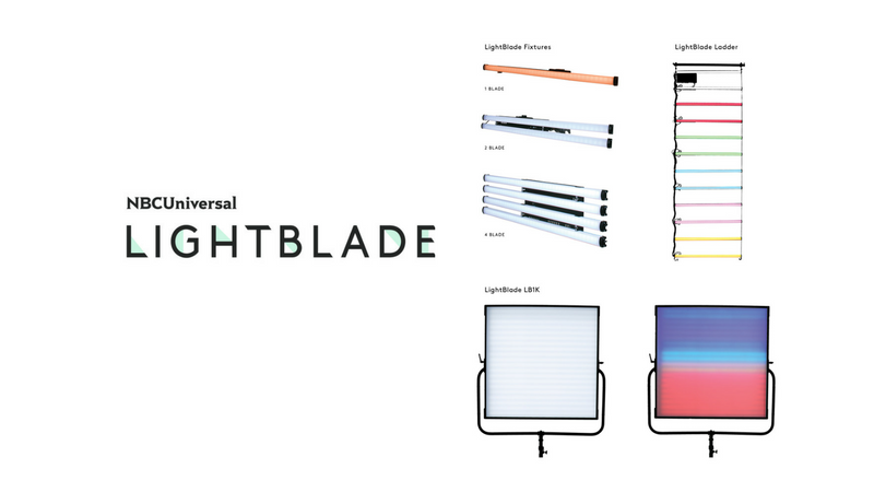 NBCUniversal LightBlade LED Produciton Lighting Debuts 3 New Products at BSC Expo