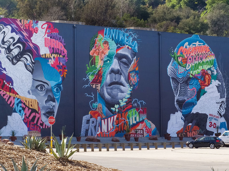 Universal Unveils Massive Monster Mural on Studio Lot
